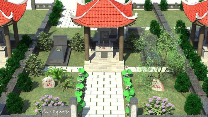 Đất nghĩa trang hiện đại nhất - Khu mộ gia tộc