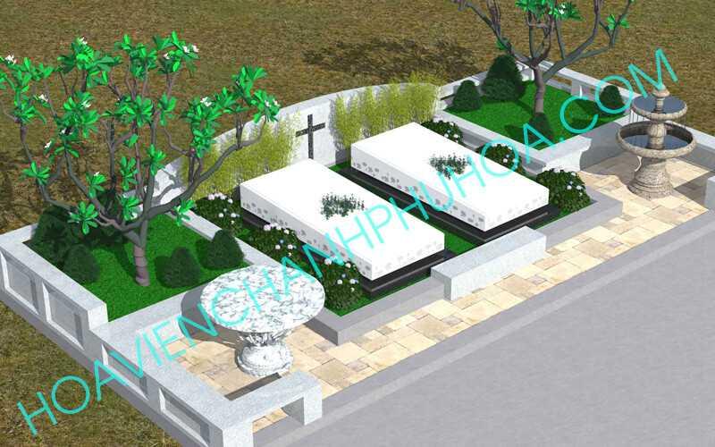 Đất nghĩa trang Bình dương Khu mộ cao cấp Tứ Quý