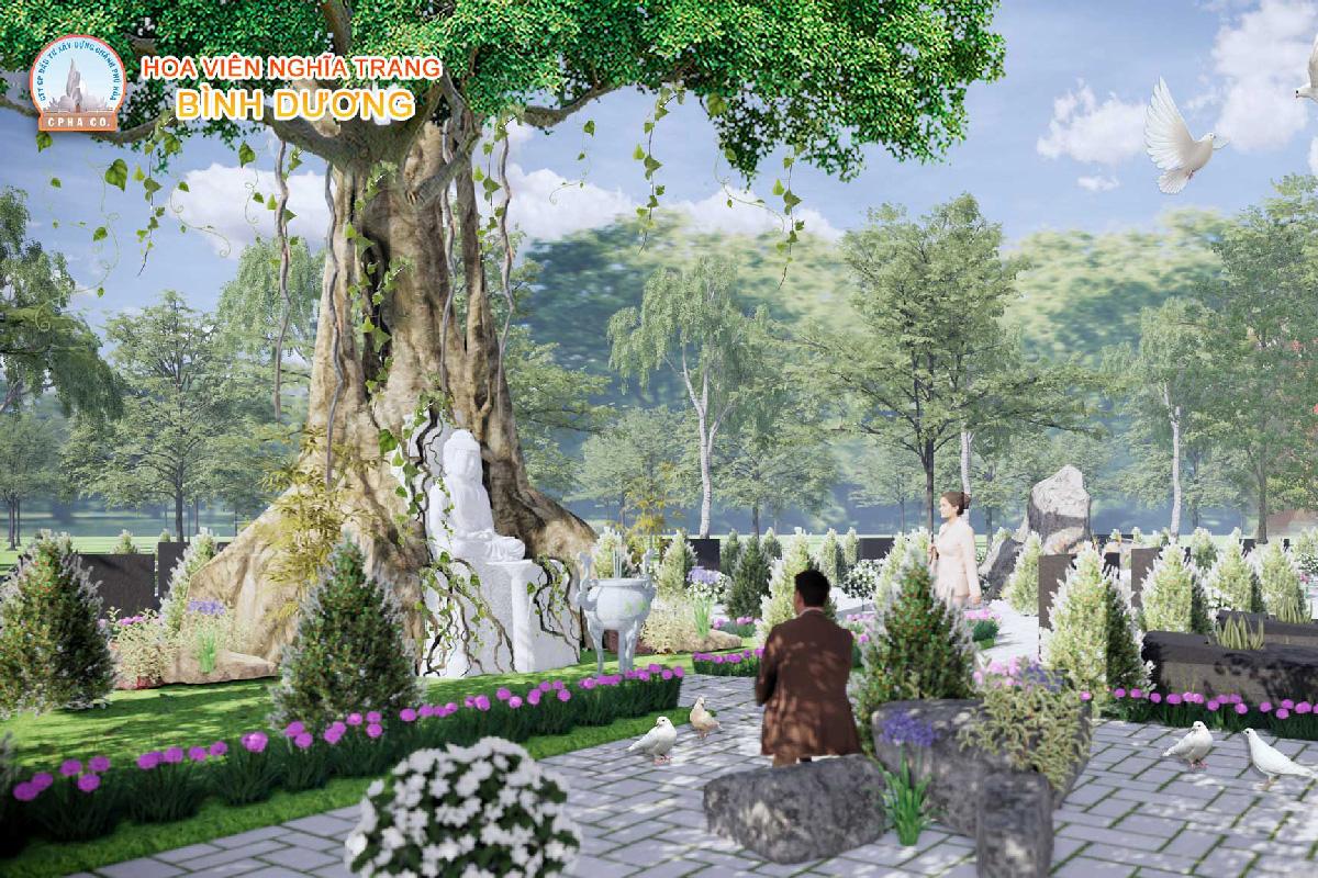 Khu mộ cội nguồn Hoa viên nghĩa trang Bình Dương