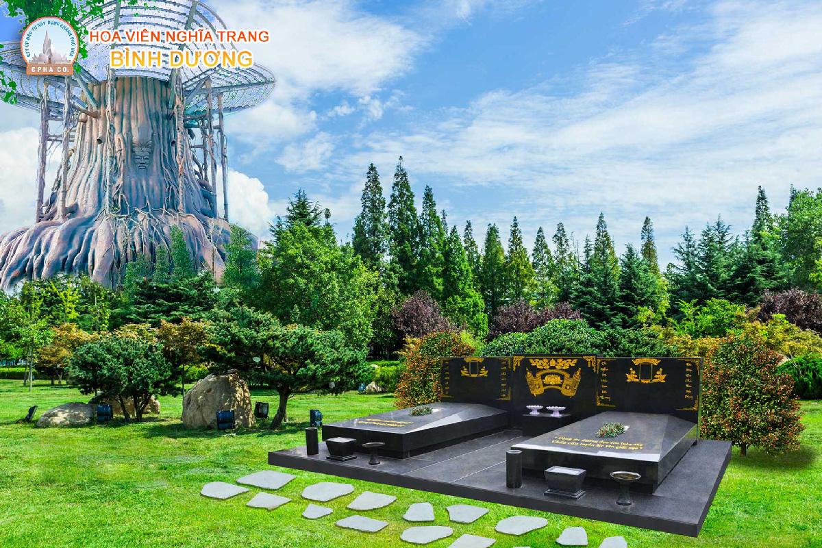 Khu mộ đôi tại hoa viên nghĩa trang bình dương
