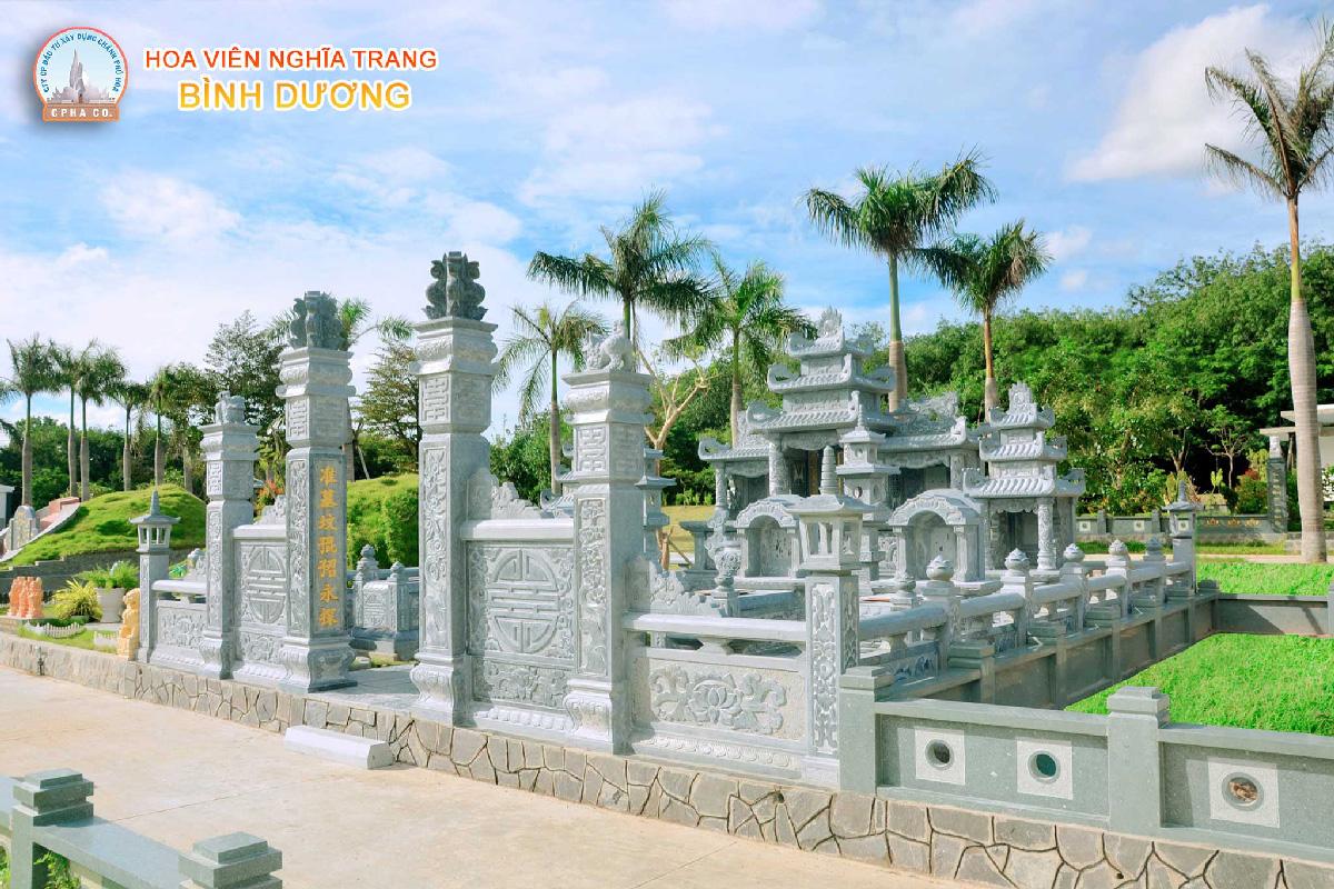 Giá đất nghĩa trang Bình Dương - Lăng mộ đá