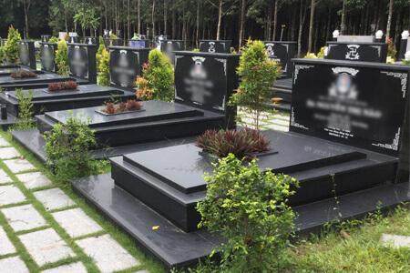 Mộ phần khu B - Hoa viên nghĩa trang Bình Dương