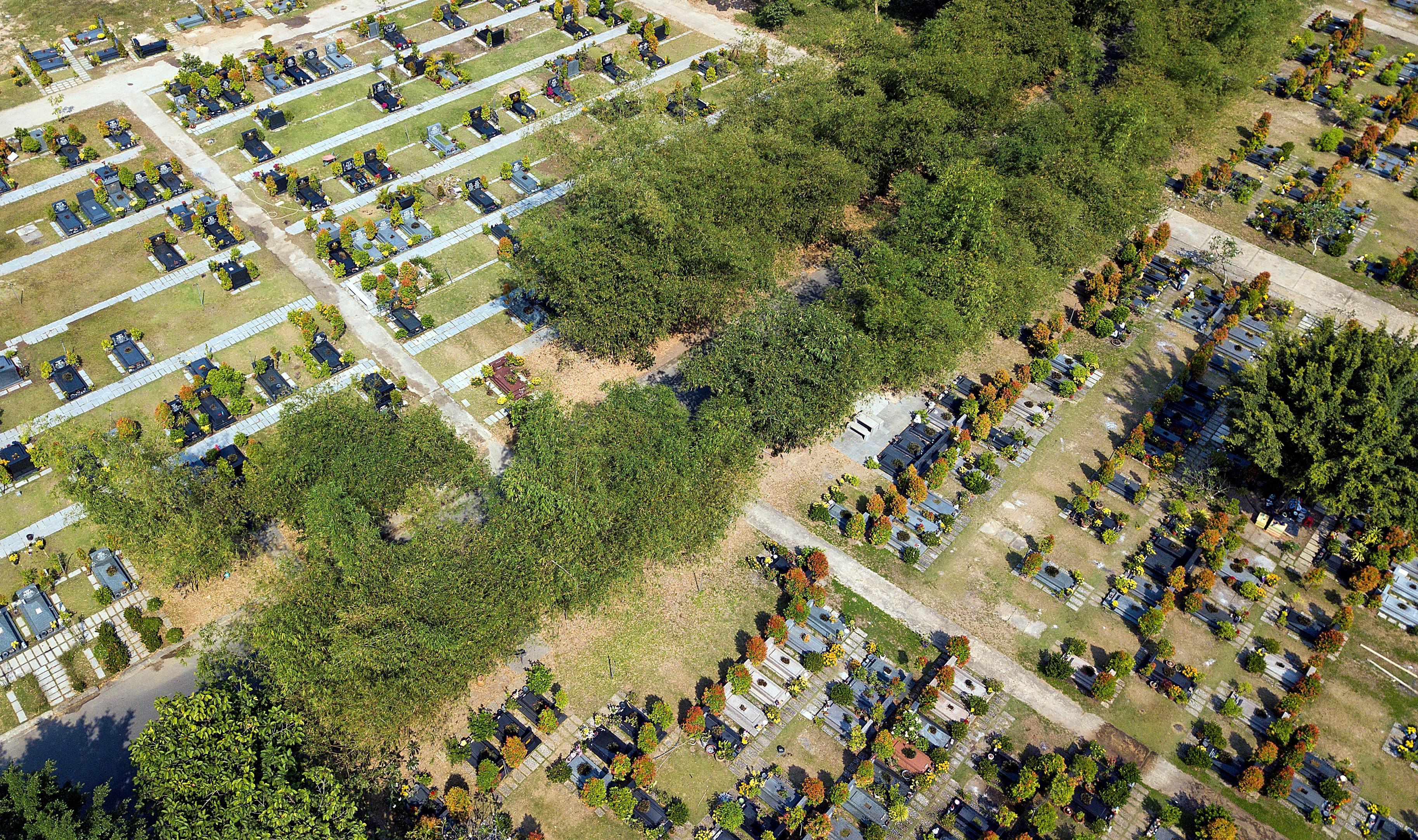 Khuôn viên 200 ha của Hoa viên mới chỉ được đưa vào sử dụng một phần nhỏ