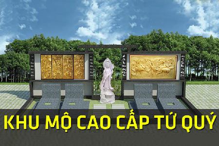 Khu mộ cao cấp tứ quý hoa viên nghĩa trang Bình Dương